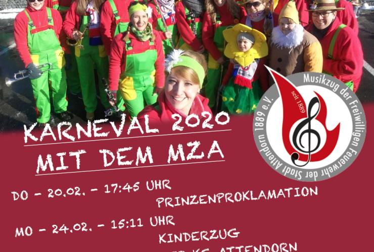 Karneval 2020 mit dem Musikzug Attendorn